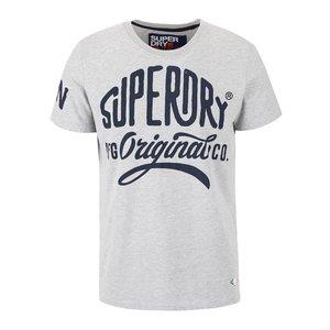 Superdry, Tricou gri cu imprimeu Superdry