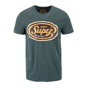 Superdry, Tricou verde cu imprimeu Superdry