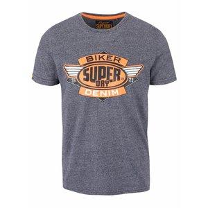 Superdry, Tricou albastru cu imprimeu Superdry