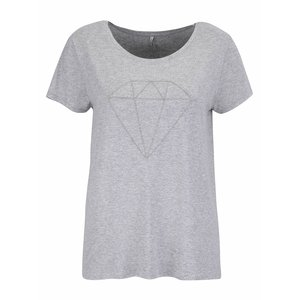 ONLY, Tricou gri ONLY Alice cu print