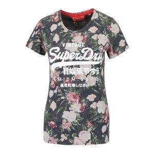 Superdry, Tricou cu imprimeu floral Superdry și text