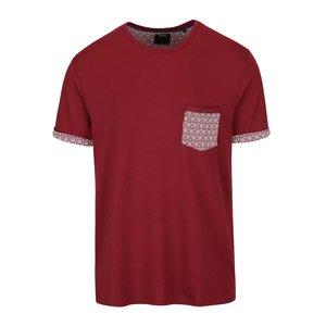 Tricou roșu Burton Menswear London cu buzunar cu model