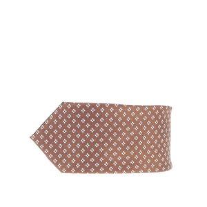 Cravată maro Burton Menswear London cu model discret la pretul de 69.99
