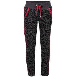 Pantaloni sport gri Cars Jeans Saar cu imprimeu leopard