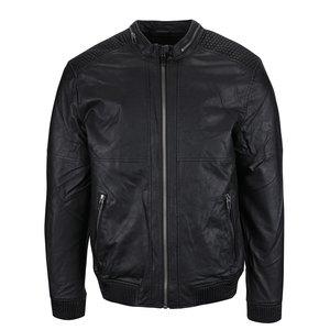Jachetă neagră ONLY & SONS Leo din piele sintetică
