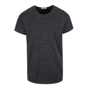 Tricou gri închis Selected Homme Pine cu model discret