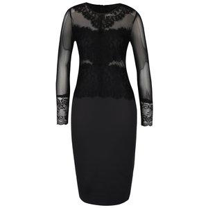 Rochie neagră AX Paris cu plasă și dantelă