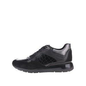 GEOX, Pantofi sport negri Geox Shahira cu piele naturală