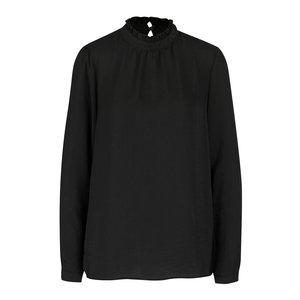 ICHI, Bluză neagră ICHI Collir cu guler