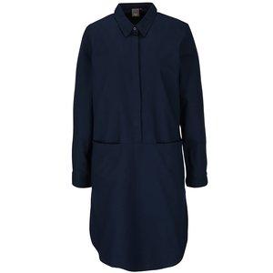 ICHI, Rochie cămașă bleumarin ICHI Avilda cu mâneci lungi