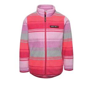 Bluză roz în dungi LEGO Wear Sage cu fermoar