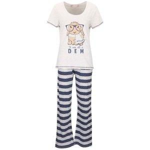 Pijamale albastru-crem Dorothy Perkins