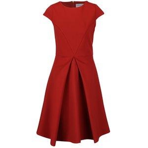 Rochie roșu cărămiziu Closet cu pliuri