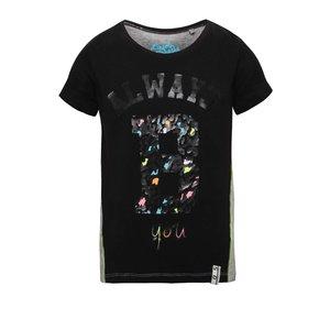 Tricou gri & negru 5.10.15. pentru fete
