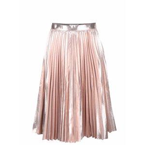 Closet, Fustă roz Closet cu pliuri și detalii metalice