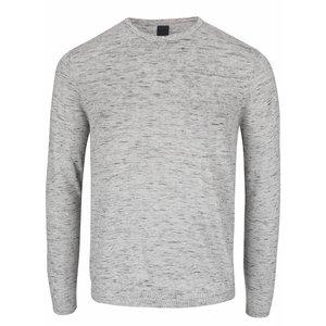 Bluză gri deschis Berton Lukas din bumbac cu model discret