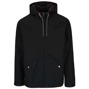 Jachetă neagră Quiksilver Wanna cu glugă