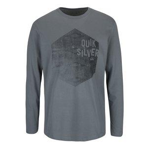 Quiksilver, Bluză gri Quiksilver Classteels Jumhe din bumbac cu imprimeu