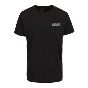 Quiksilver, Tricou negru Quiksilver Garm din bumbac cu imprimeu