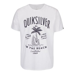 Quiksilver, Tricou alb Quiksilver Clastess Activlo din bumbac