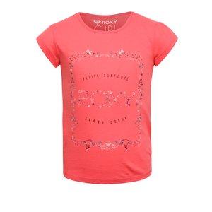 Roxy, Tricou roz Roxy din bumbac pentru fete