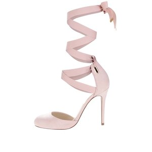 Sandale roz deschis Miss Selfridge cu barete