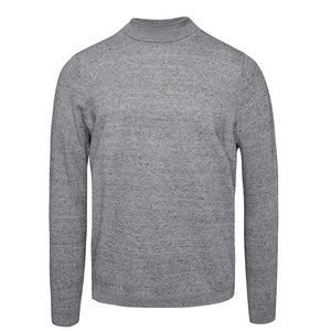 Helancă gri deschis Burton Menswear London cu model discret