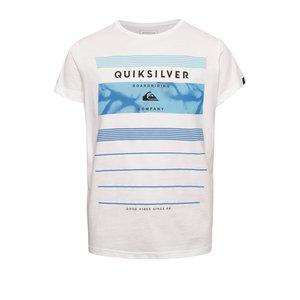 Tricou alb Quiksilver pentru băieți