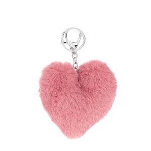 Breloc roz Haily´s Pompom în formă de inimă