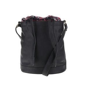 Geantă tip sac Vero Moda Check neagră
