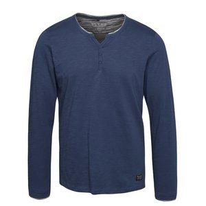Bluza Albastra Blend Cu Nasturi