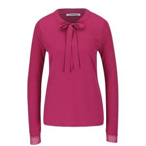 Bluză roz Rich & Royal cu fundă la pretul de 419.99