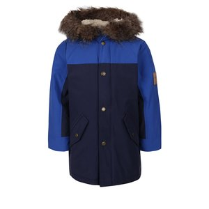Jachetă albastră Tom Joule Blerside cu glugă pentru băieți