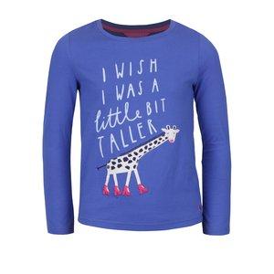 Tom Joule, Bluză albastră Tom Joule din bumbac cu print pentru fete