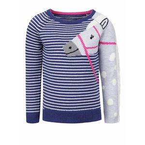 Tom Joule, Pulover albastru Tom Joule GeeGee cu model în dungi și print pentru fete