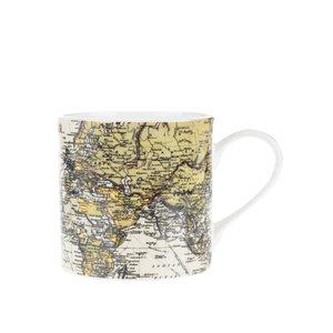 Gift Republic, Cană albă Gift republic cu print cu hartă