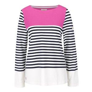 Tom Joule, Bluză crem Tom Joule cu model în dungi și detaliu roz