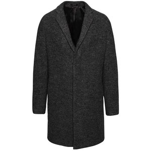 Palton Gri Inchis Selected Homme Brook Boucle