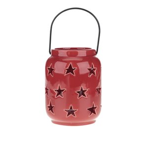 Dakls, Suport de lumânare Dakls roșu din porțelan