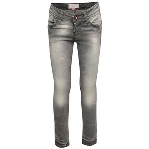 Jeanși gri cu aspect prespălat Cars Jeans Vicka pentru fete