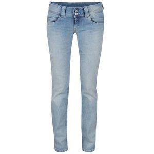 Pepe Jeans, Blugi albastru deschis Pepe Jeans Venus cu talie joasă
