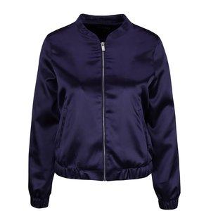 Jachetă bomber albastră Miss Selfridge cu aspect satinat