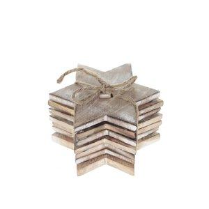 Set de 6 suporturi de pahar Sass & Belle din lemn în formă de stea