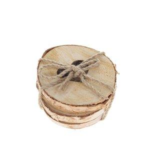 Sass & Belle, Set 4 suporturi pentru pahare Sass & Belle din lemn