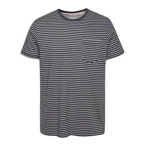 Burton Menswear London, Tricou albastru închis Burton Menswear London cu model în dungi