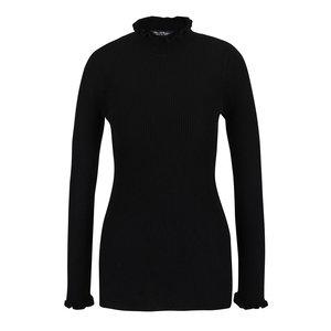 Bluză neagră Miss Selfridge cu guler la baza gâtului