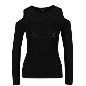 Bluză neagră Miss Selfridge cu decupaje la umeri
