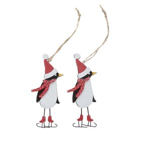 Set De 2 Ornamente Alb & Negru Sass & Belle Din Lemn