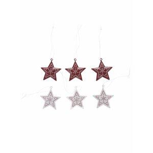 Set 6 Ornamente Metalice Sass & Belle In Forma De Stele