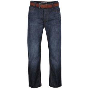 Blugi bleumarin Burton Menswear London cu aspect prespălat